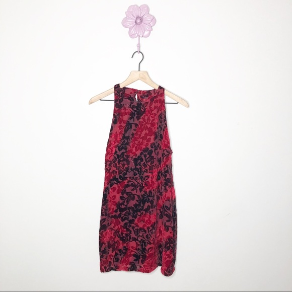 Somedays Lovin Dresses & Skirts - New Somedays Lovin Red / Black Velvet Floral Dress